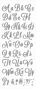 Stencil 17x42 Alfabeto Cursivo I - OPA 3072