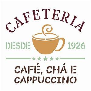 Stencil 14x14 Culinaria Cafeteria - OPA 3049