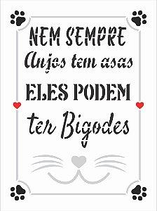 Stencil 15x20 Pet Frase Nem Sempre - OPA 3024