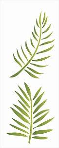 Stencil 17x42 Folhas de Palmeira - OPA 2578