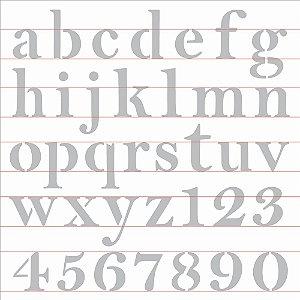 Stencil 30,5X30,5 – Alfabeto Reto Minúsculo - OPA 2517