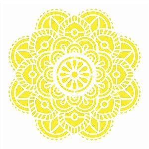 Stencil 30,5X30,5 – Mandala Flor Vitral - OPA 2474