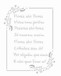 Stencil 20x25 Poema Flores - OPA 2449
