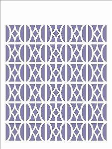 Stencil 15x20 Estamparia Vitral III - OPA 2443