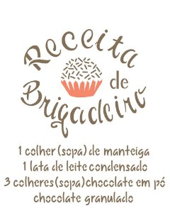 Stencil 20x25 Receita Brigadeiro - OPA 2286