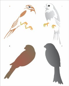 Stencil 20x25 Pássaros - OPA 2189
