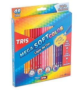 Lápis de Cor TRIS MegaSoft 48 Lápis + Apontador