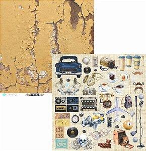Papel Scrapbook Carina Sartor - Coleção Hypster Style - HYP-02