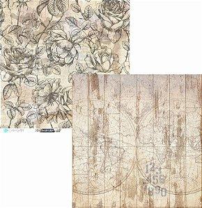 Papel Scrapbook Carina Sartor - Coleção Hypster Style - HYP-03
