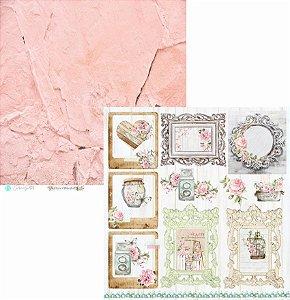 Papel Scrapbook Carina Sartor - Coleção Flower Market - FLO-04
