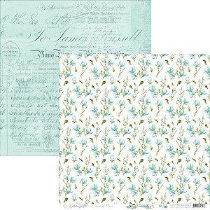 Papel Scrapbook Carina Sartor - Coleção Básico Blue Relax - BASE-29