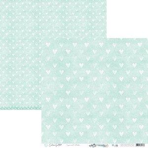 Papel Scrapbook Carina Sartor - Coleção Básico Blue Relax - BASE-30