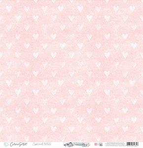Papel Scrapbook Carina Sartor - Coleção Básico Rose Relax - BASE-35