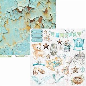 Papel Scrapbook Carina Sartor - Coleção Little Star - LIS-01