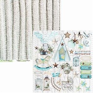 Papel Scrapbook Carina Sartor - Coleção Little Star - LIS-05