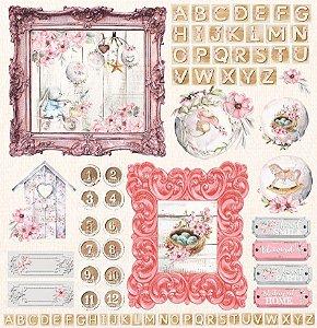 Papel Scrapbook Carina Sartor - Coleção Little Heart - LIH-06
