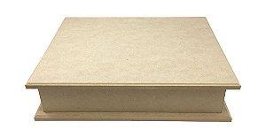 Caixa Biju MDF 2 Aneleiras e 12 Divisórias Com Base -32x26x6