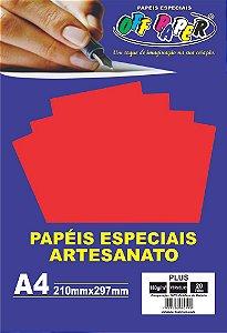 Papel Plus Vermelho 180g Com 20 Folhas Off Paper