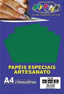 Papel Plus Verde 180g Com 20 Folhas Off Paper