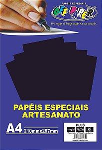 Papel Plus Preto 180g Com 20 Folhas Off Paper