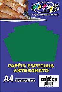Papel Plus Verde 120g Com 20 Folhas Off Paper