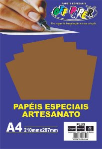 Papel Plus Marrom 120g Com 20 Folhas Off Paper