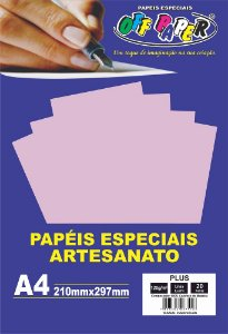Papel Plus Lilás Luminoso 120g Com 20 Folhas Off Paper