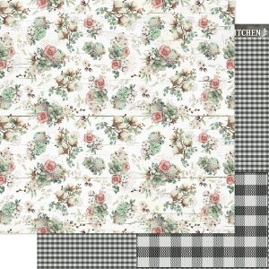 Papel Para Scrapbook 30,5 Cm X 30,5 Cm - Country e Flores - SD-1181