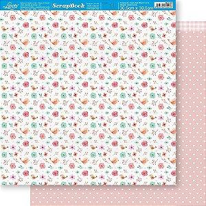 Papel Para Scrapbook 30,5 Cm X 30,5 Cm - MÃES COLEÇÃO AQUARELA SD-1189