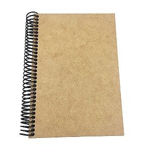 Caderno Capa MDF Lisa Tamanho M 1/4 - 96 folhas 20x14 cm