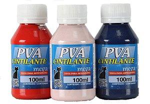 Tinta Cintilante Mega PVA Gato Preto - 100 ml