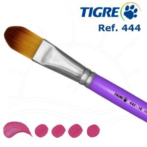 Pincel Filbert Língua De Gato - Ref. 444 - Tigre 08