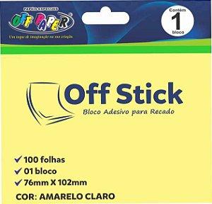 Bloco Liso Com 100 Post It Amarelo Claro Notas 76x102 mm