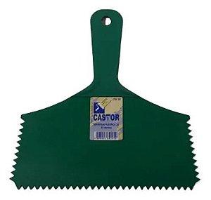 Espátula Plástica Dentada Castor 20 cm 33 Dentes