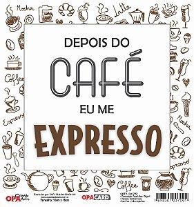 Papel Scrapbook 180g OPA 15x15 cm - OPACARD 2752 Café 1