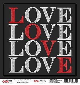 Papel Scrapbook 180g OPA 15x15 cm - OPACARD 2786 Amor 5