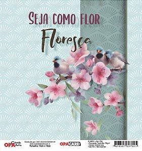 Papel Scrapbook 180g OPA 15x15 cm - OPACARD 2754 Flores 1