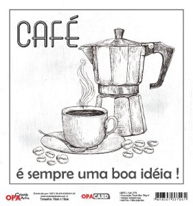 Papel Scrapbook 180g OPA 15x15 cm - OPACARD 2778 Café 2