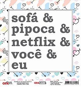 Papel Scrapbook 180g OPA 15x15 cm - OPACARD 2792 Frase 7