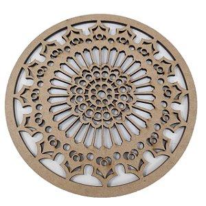 Aplique Laser MDF -  Mandala nº01 10cm