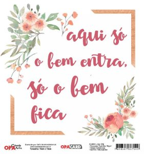 Papel Scrapbook 180g OPA 15x15 cm - OPACARD 2756 Flores 3