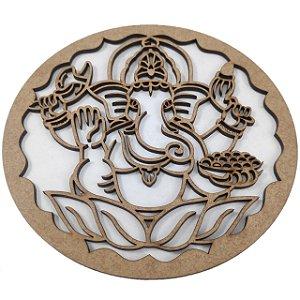 Aplique Laser MDF -  Mandala Elefante Indiano - 15cm