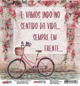 Papel Scrapbook 180g OPA 15x15 cm - OPACARD 2751 Bicicleta 1