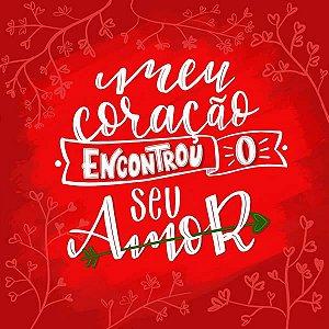 Papel Scrapbook 180g Arte Fácil 15x15 cm - Card CD-056 Meu coração encontrou o seu Amor