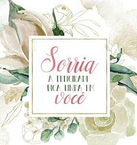 Papel Scrapbook 180g Arte Fácil 15x15 cm - Card CD-050 Sorria, a felicidade fica linda em você