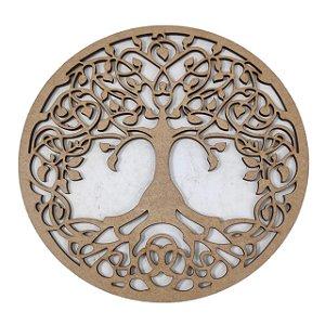 Aplique Laser MDF -  Mandala Árvore da vida - 10cm