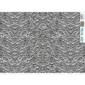 Papel Slim Paper Decoupage Litoarte 47,3x33,8 SPL-038 PADRÃO ZEBRA