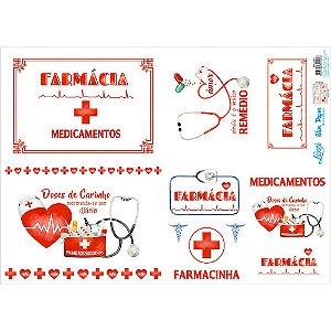 Papel Slim Paper Decoupage Litoarte 47,3x33,8 SPL-061 FARMÁCIA, MEDICAMENTOS, REMÉDIOS