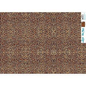 Papel Slim Paper Decoupage Litoarte 47,3x33,8 SPL-037 PADRÃO ONCINHA