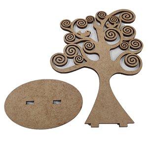 Aplique Laser MDF - Árvore com base 13cm simples